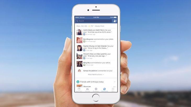 Facebook lanza notificaciones personalizadas