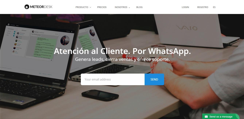 Comunicacion con empresas por WhatsApp