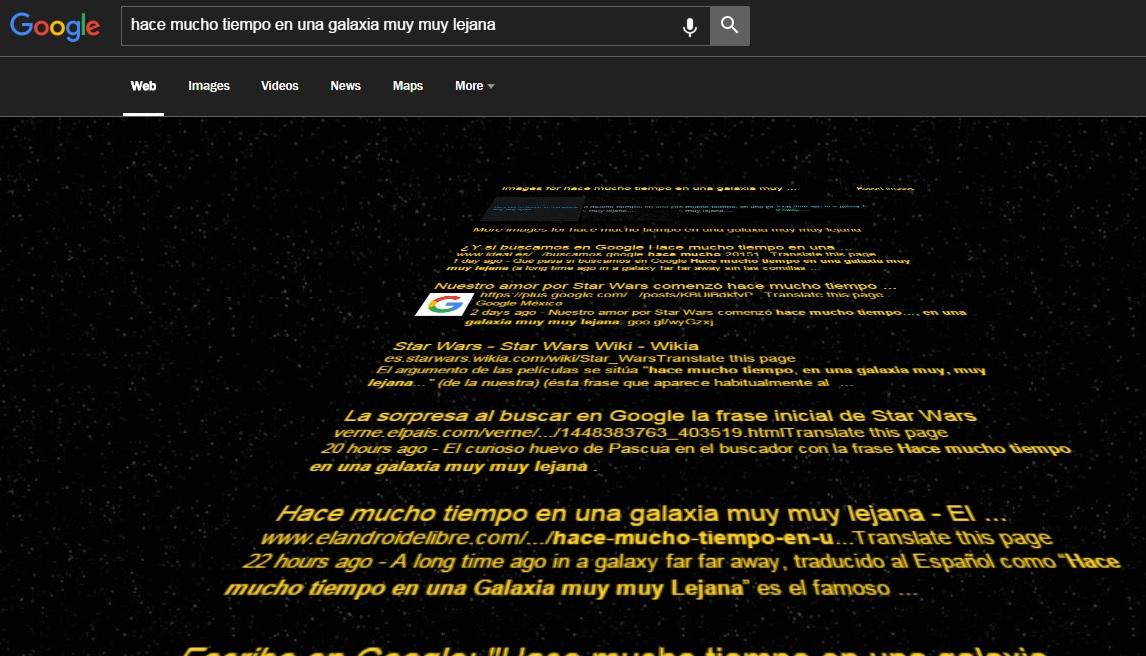 Busca En Google La Frase Inicial De Star Wars Toreoweb
