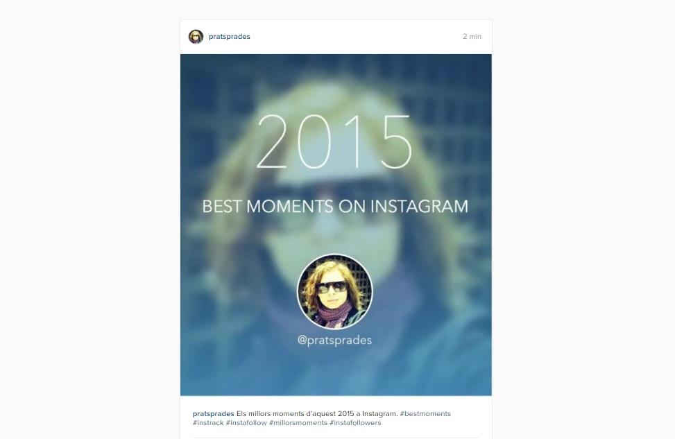 Crea un video con tus mejores fotos de 2015 en Instagram