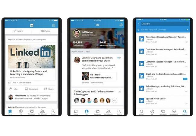 LinkedIn presenta su nueva app en todo el mundo