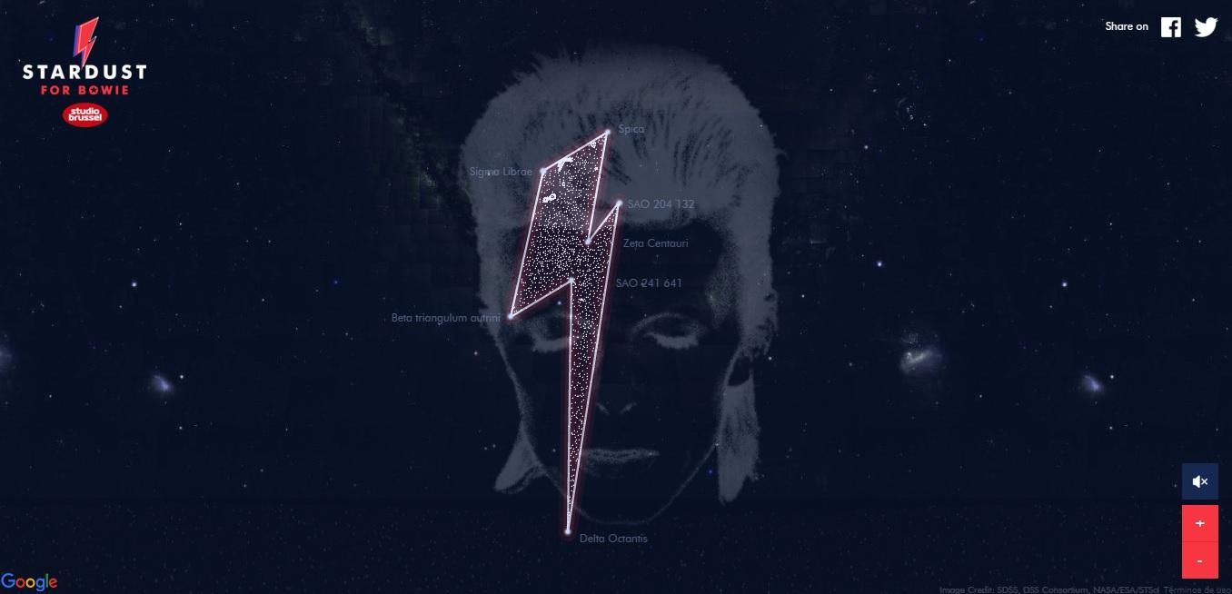 David Bowie ya tiene una constelacion