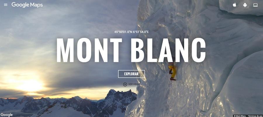 Escala el Mont Blanc gracias a Google Street View