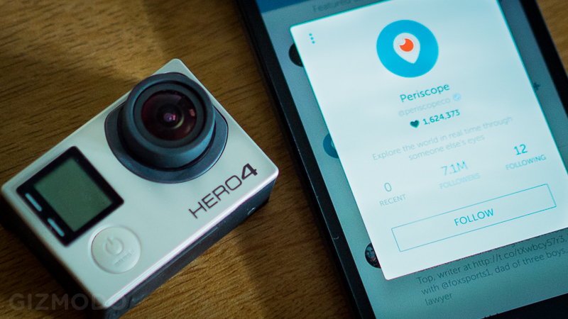 GoPro ahora se integra a Periscope