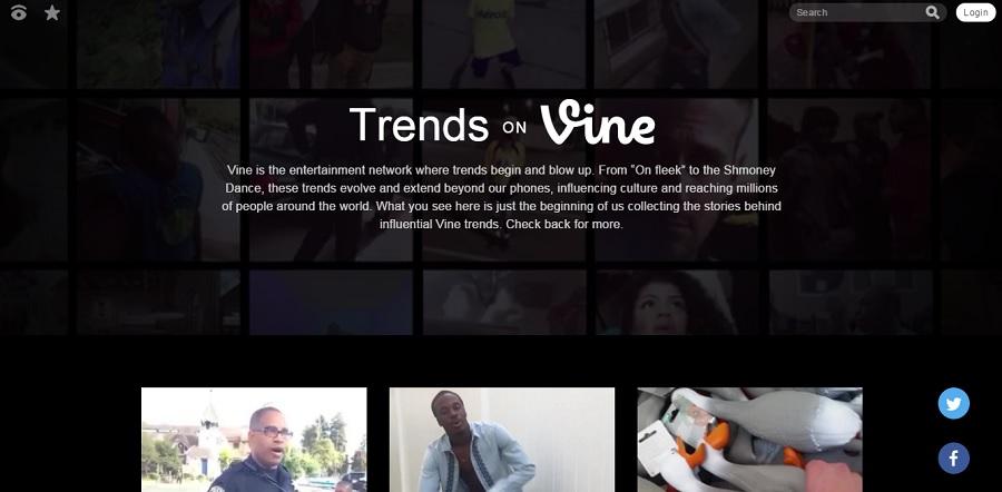 Vine cumple 3 anos y lanza su pagina de tendencias