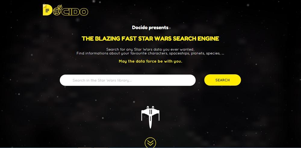 El buscador con todo lo relacionado con Star Wars
