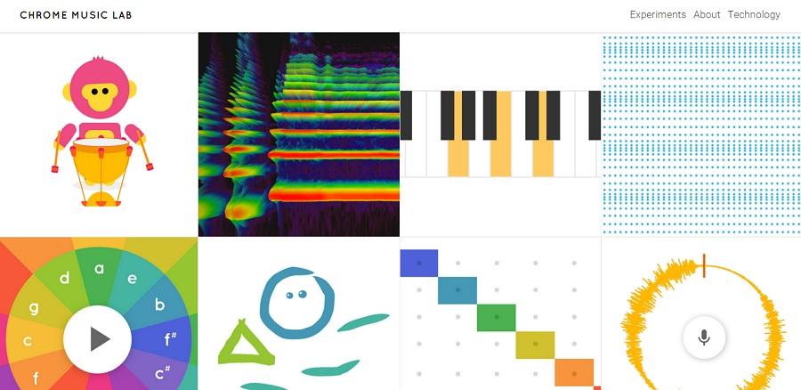 Google Music Lab experimenta en la web con musica