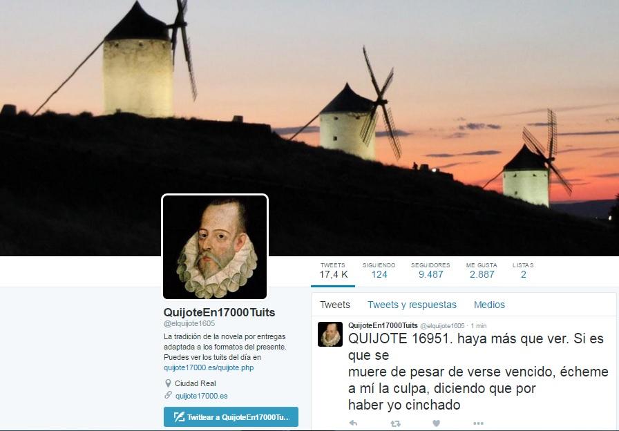 El Quijote desde Twitter un proyecto casi finalizado