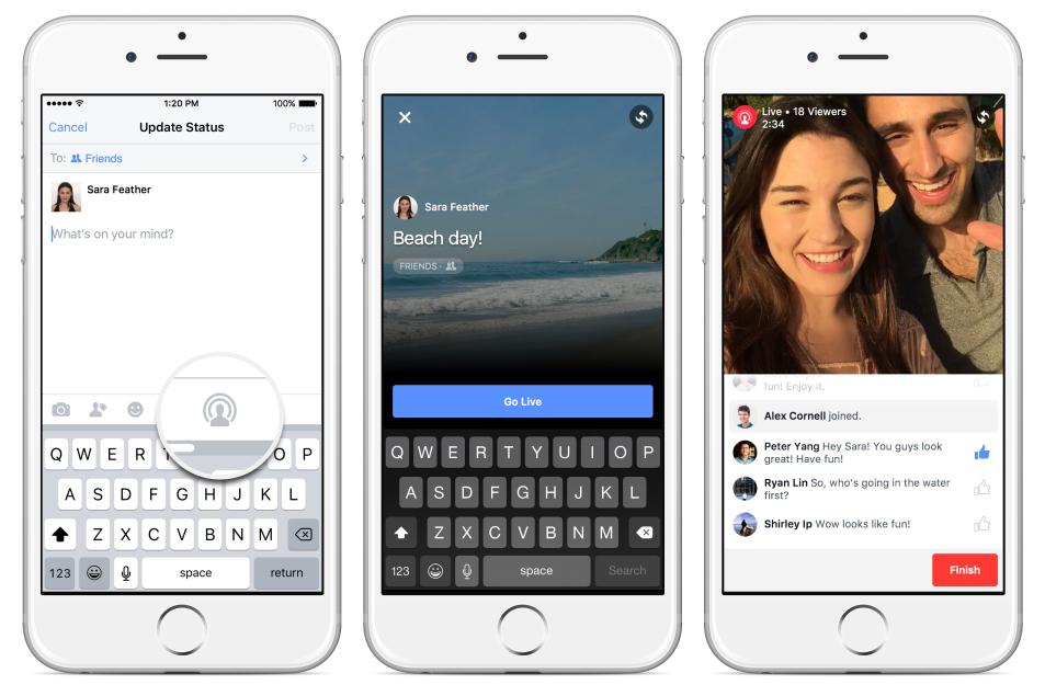 Facebook hace mejoras en su buscador para destacar los videos en vivo